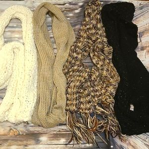 Bundle of 4 scarves scarf Winter Fall Women's